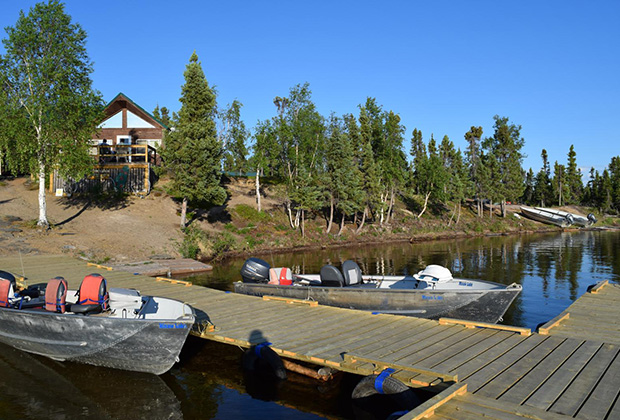 View from the Dock at Misaw Lake Lodge